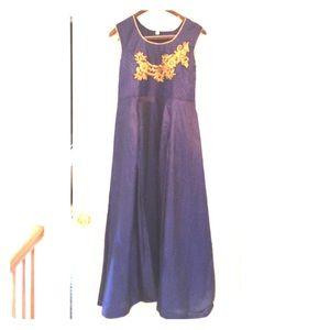 Navy blue Anarkali (Indian Dress)